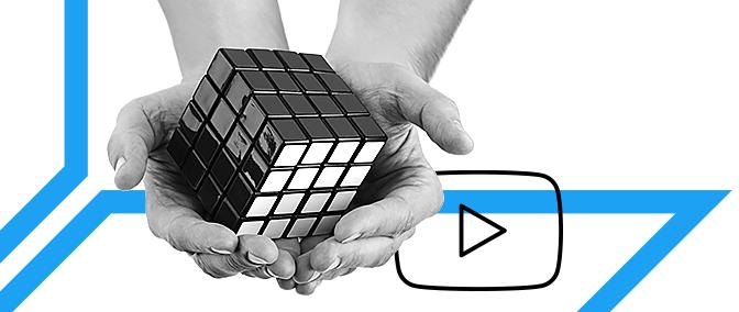 YouTube-Content schaffen. Licht, Raum, Technologie, Installation
